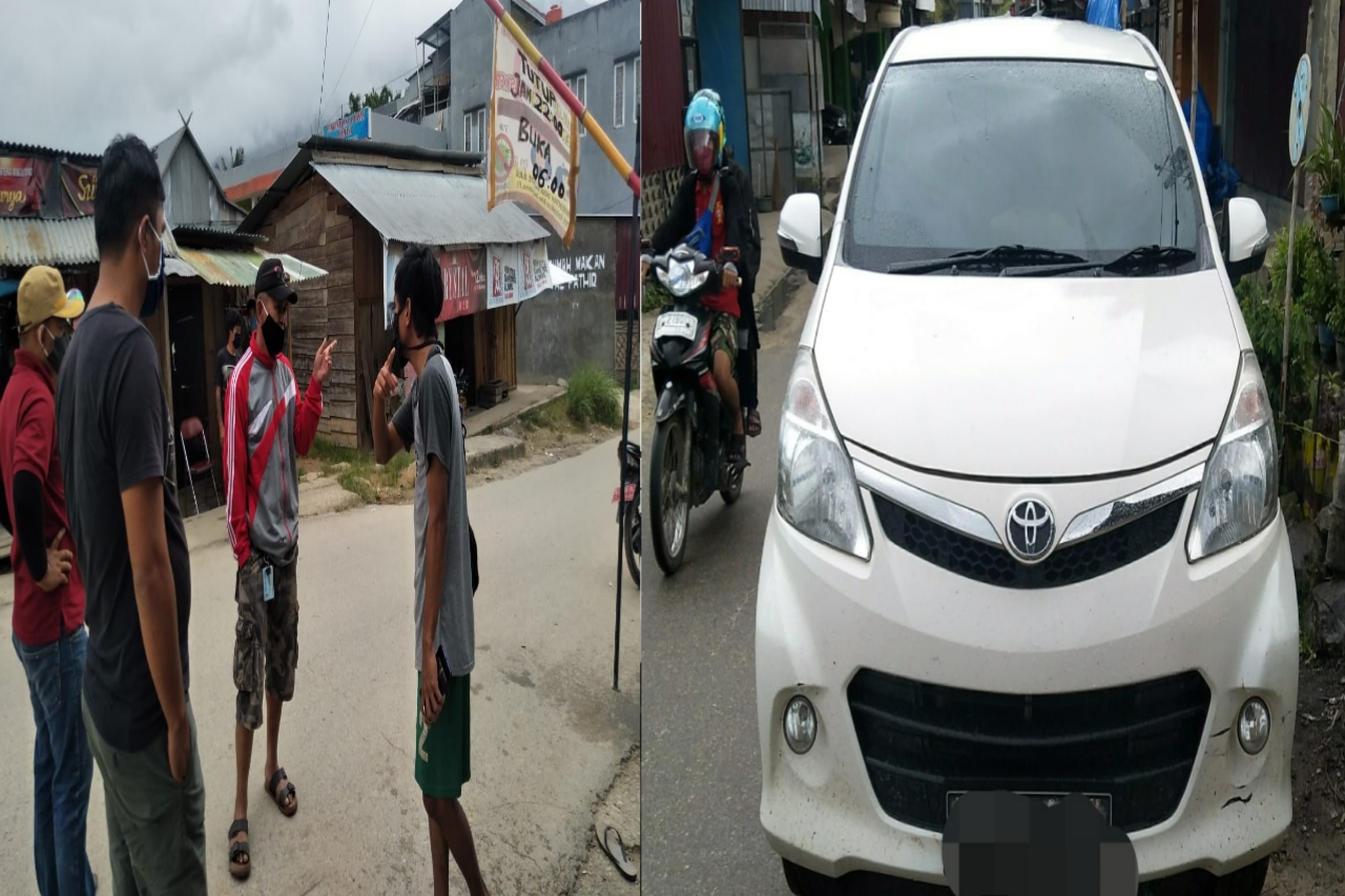 Disangka Bawa Penumpang Dari Daerah Zona Merah Mobil Dan Supirnya Sempat di Tahan Oleh Tim Covid19 Desa Buntubuda mamasa