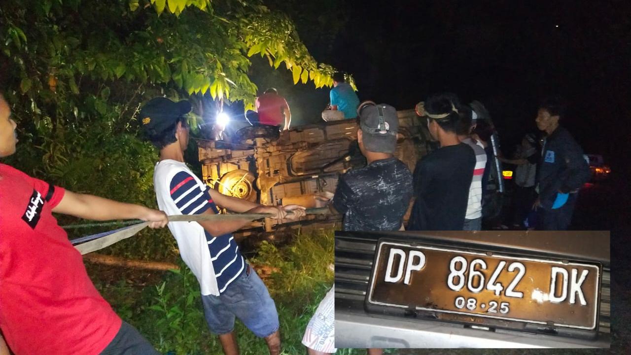 Hendak Menuju Kendari, Mobil Dari Arah Pinrang Kecelakaan di Jalan Trans Sulawesi Tolala Kolut